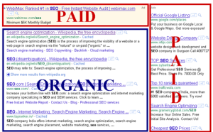 This should clear up any confusion about which results are organic and which are paid.