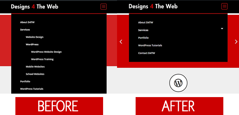 Toggle Divi Submenu Before and After